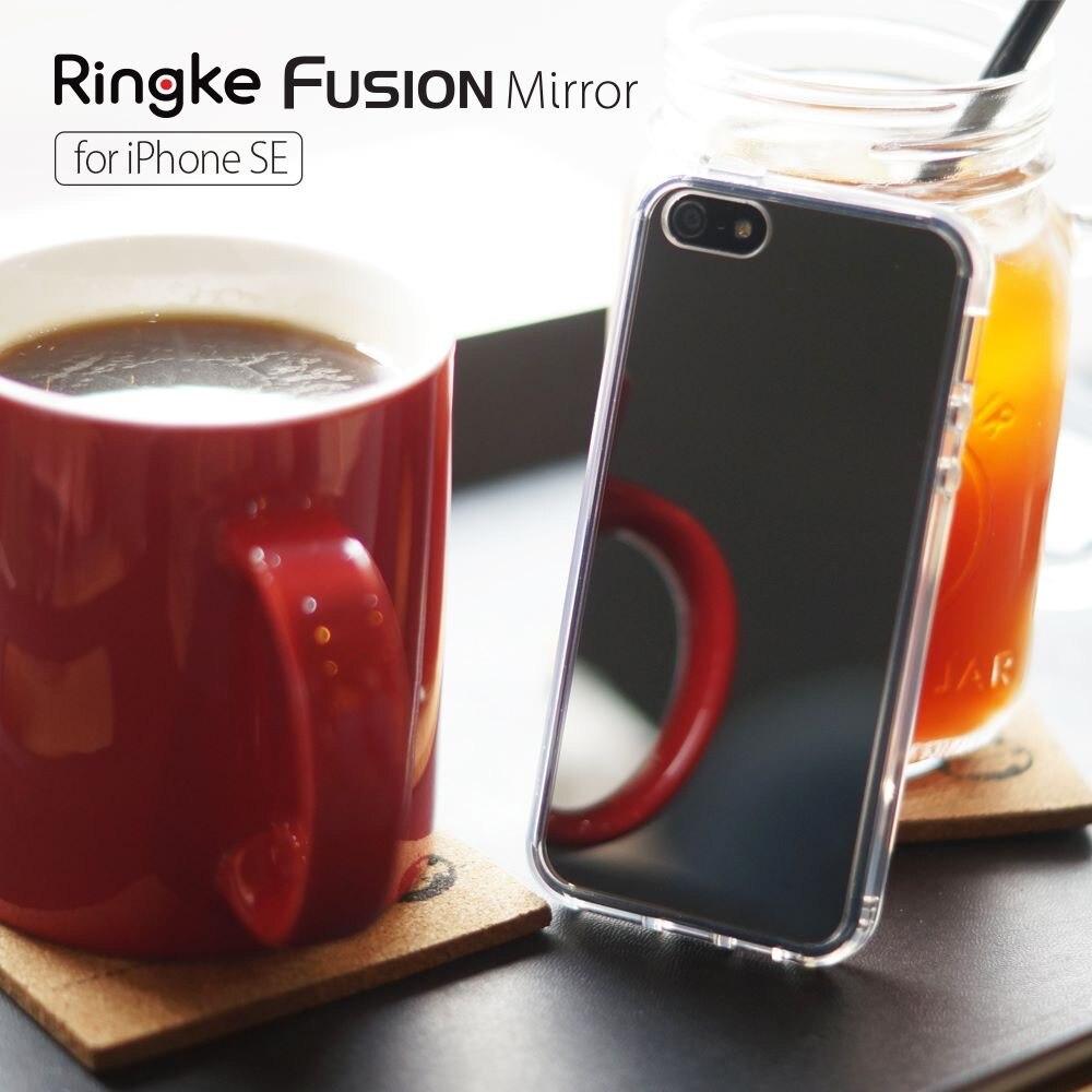imágenes para Ringke Fusión 5S Mirror para el iphone/iphone 5 Marco y el Espejo de Nuevo Híbrido de Tpu para el iphone SÍ