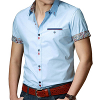 Plus Size Dress Shirts Men 6XL 7XL 8XL Summer Short Sleeve Solid Color Casual Men Shirts