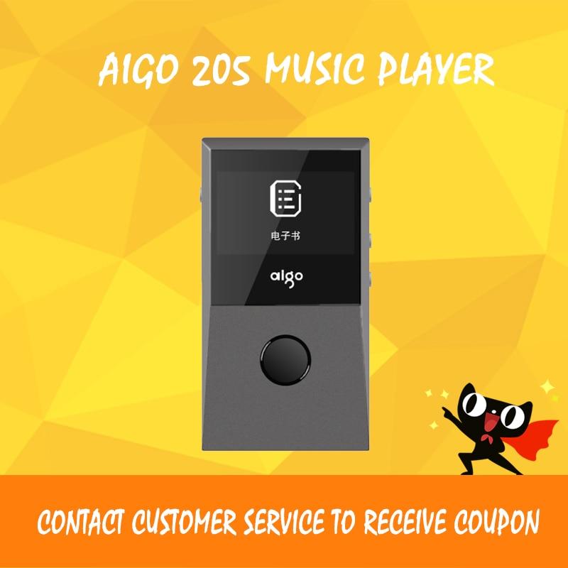 Aigo 205 mp3 player bluetooth dac usb lossless portable fm audio players mini flac music player цена и фото