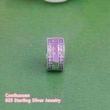 С логотипом известного бренда Insignia Spacer бусина с зажимом Подходит Пандора браслеты 925 Серебряный стоппер бусины ювелирные изделия