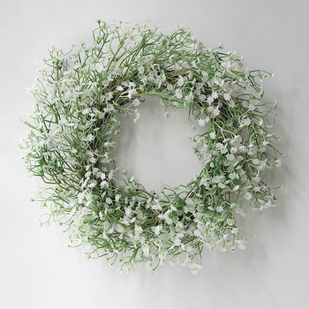 Home Wall Artificial Babys Breath Wreath Garland Wedding Prop Decoration beautiful perfect gift Hot Sale
