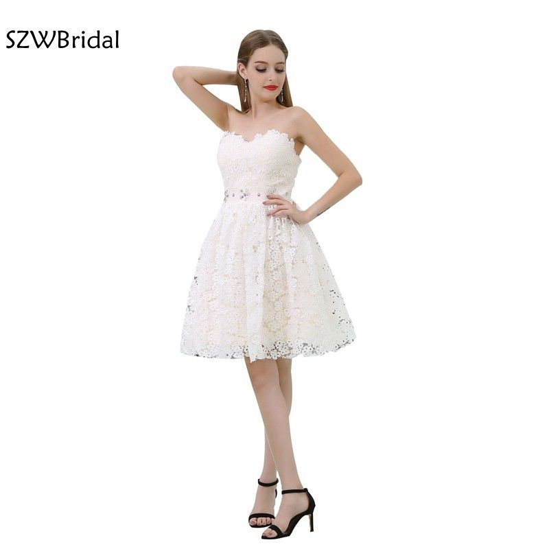 Fashion Lace   Cocktail     dresses   2019 Vestido de festa curto Sweetheart Short   Cocktail     dress   Jurken ever pretty party   dresses