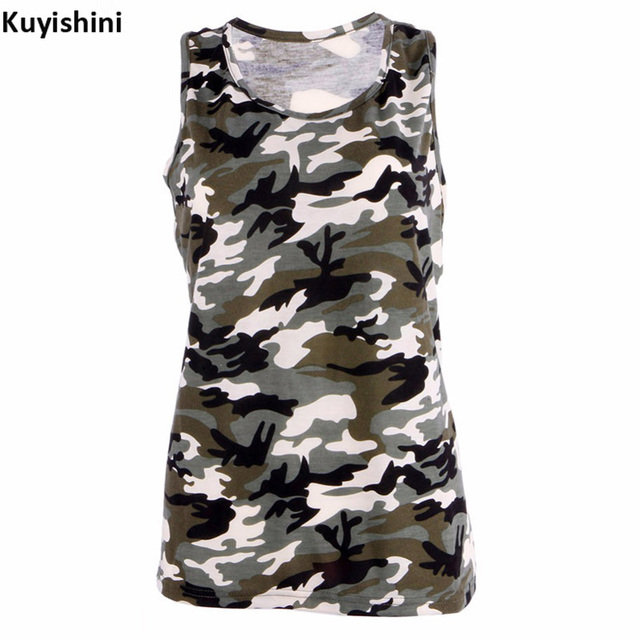 8f64c7525f4ee Plus Size 3XL 4XL 5XL Camouflage T-Shirts Tank Tops Womens Summer  Sleeveless Camo T Shirt Tees Tank Tops