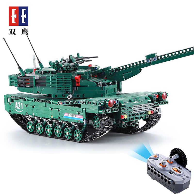 M1A2 1498 個テクニック RC Legoing タンクモータ電源機能 MOC ビルディングブロックレンガ軍事戦争 DIY 技術者のおもちゃ男の子