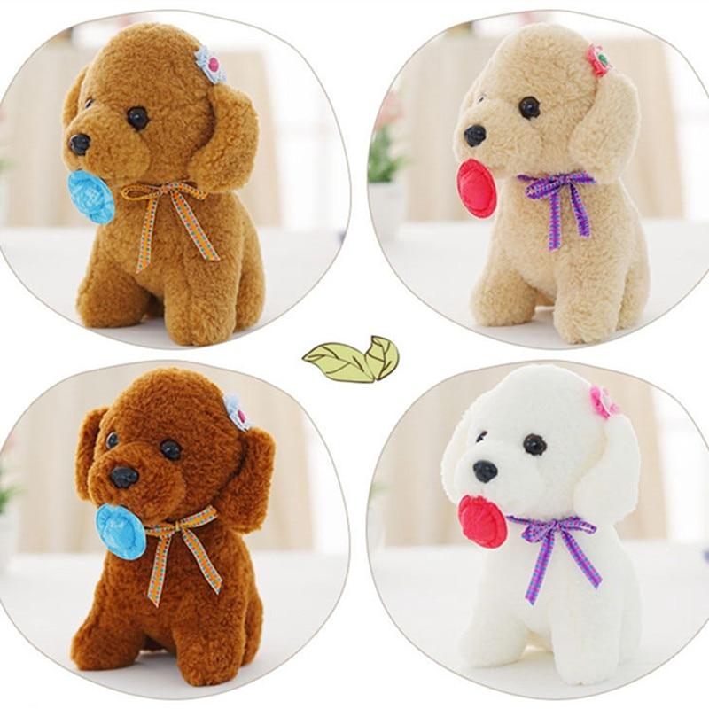 1PC 25cm Cute Teddy Dog Plush Toy Stuffed Animal Doll for Kids Baby Kawaii Soft Puppy Dog Birthday Gift for Girls Children 11 8 plush toy stuffed toy super quality goofy dog baby toy soft doll goofy toy lovey cute doll gift for children