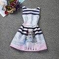 La chica nueva Corea otoño vestido para 8 9 10 11 12 13 14 años niño sunshine girl sello princesa chicas delgadas vestido