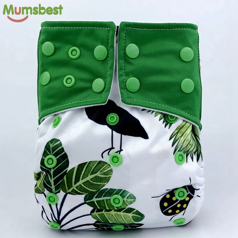 [Mumsbest] Baby Cloth Diaper Pocket Cartoon Animals Cloth Diapers Cover Babies Washable Waterproof Cloth Nappy Suit 3-13kg baby