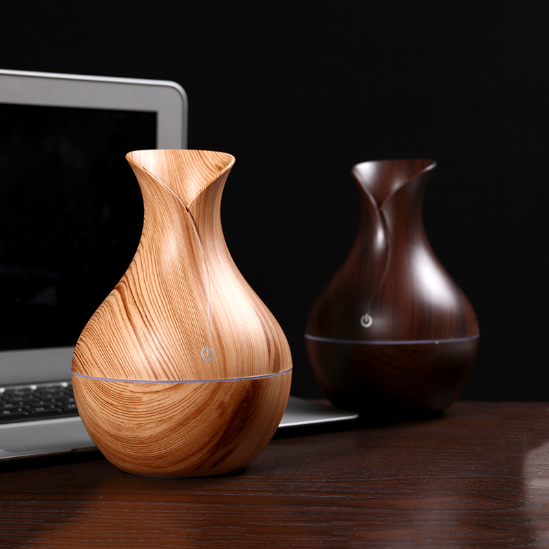 Air Humidifier Usb Aroma Diffuser Mini Wood Grain Ultrasonic Atomizer Aromatherapy Essential Oil Diffuser For Home Office