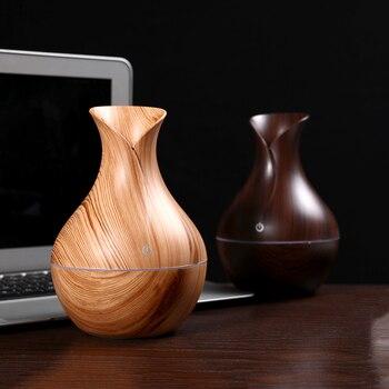 Powietrza nawilżacz usb rozpylacz zapachów mini drewna ziarna rozpylacz ultradźwiękowy olejku aromaterapeutycznego dyfuzor dla home office