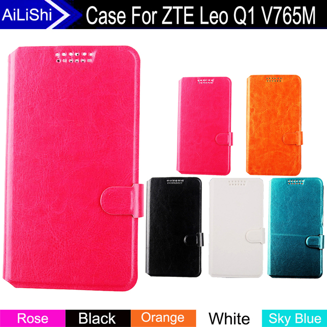 AiLiShi Factory Direct! Case For ZTE Leo Q1 V765M Top Quality Flip PU Leather Case Exclusive 100% Special Phone Cover Stand Hot