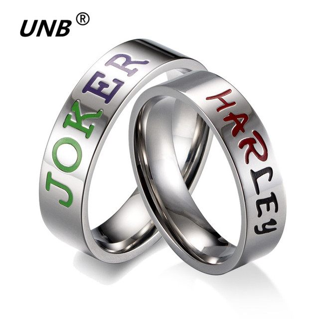 Stainless Steel Suicide Squad Rings for Women Engraving JOKER