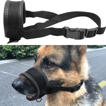 1PCS Large Dog Mouth Muzzle Adjustable Breathable Small Anti Bark Bite Chew Dog Muzzles Training Products Pet Accessories