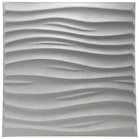 3D Lederen Muursticker Peel en Stick 3D Geweven Wandbekleding PU Materiaal Panelen Wave Muur 23.6 ''x 23.6''