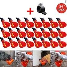 5/10/15/12/24 pces alimentação automática pássaro coop aves frango aves bebedor água copos de alimentação gado abastecimento rega