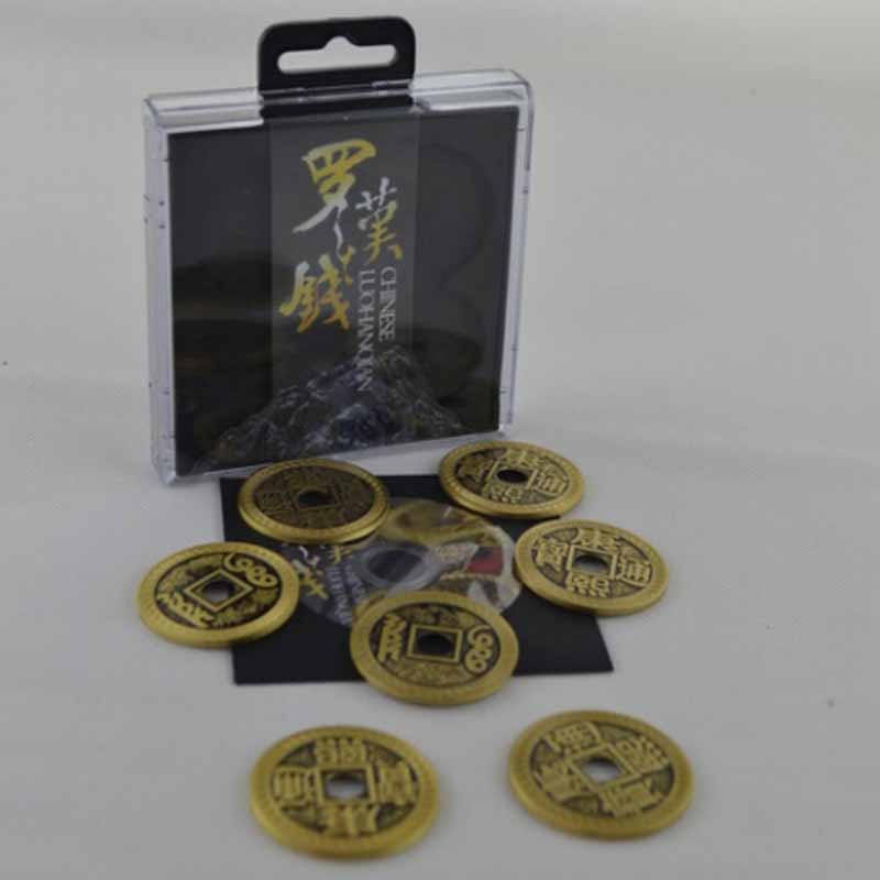 Chinese LuohanQian (size As Morgan Coin 38mm), Deluxe Chinese Ancient Coin Set Magic Tricks Appearing/Vanishing Close Up Prop