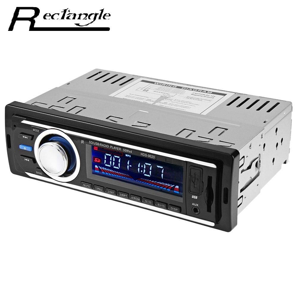 Rectangle 1 Din Car Radio Auto Audio Stereo 12V FM SD MP3