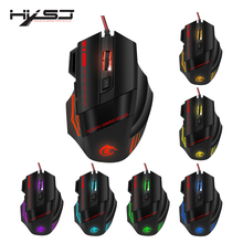 HXSJ A907 Adjustable 5500DPI Professional USB Wired Optical 7 Buttons Self defining Gaming Mouse for Desktop Laptop Netbook