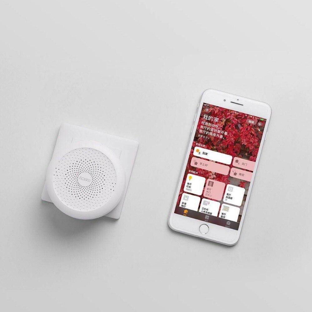 Hub Original de xiaomi mi jia aqara, passerelle de xiaomi mi avec la lumière de nuit de Led travail intelligent avec pour Apple Homekit, édition internationale - 4