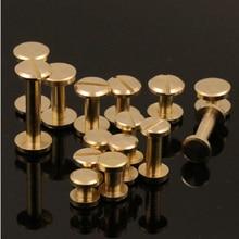 10 шт. 8 мм плоский медный винт I-beam двухсторонние винты диаметр отверстия 4 мм~ 12 мм