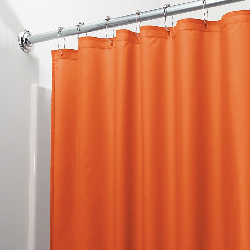 Light Solid Polyester Shower Curtain Mildew Resistant Bath Curtain For Hotal Waterproof Fresh Durable Bathroom Partition Curtain-in Shower Curtains from Home & Garden