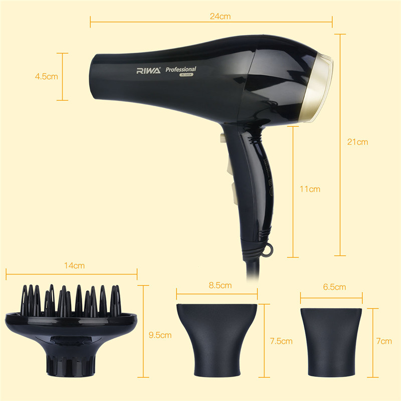 Professional Salon Tools Blow Dryer Heat Cold Air Super Speed Blower Dry Electric Hair Dryers Wind Collecting Concentrator pet hair dryer blower sale 2400w variable speed quickly drying ru shipping