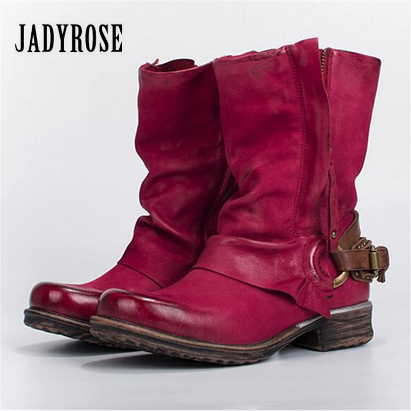 Jady Rose Autumn Winter Women Ankle Boots Soft Genuine Leather Double Zipper Rubble Flat Botas Mujer Platform Shoes Woman mabaiwan retro brown ankle boots for women metal decor autumn winter botas mujer genuine leather platform rubber shoes woman
