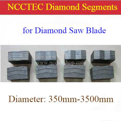 Diamond Segments For Saw Blade Of Diameter250 300350 400 450 500 600 800 900 1000 1200 1600 1800 2000 2200 2500 2700 3000 3500mm
