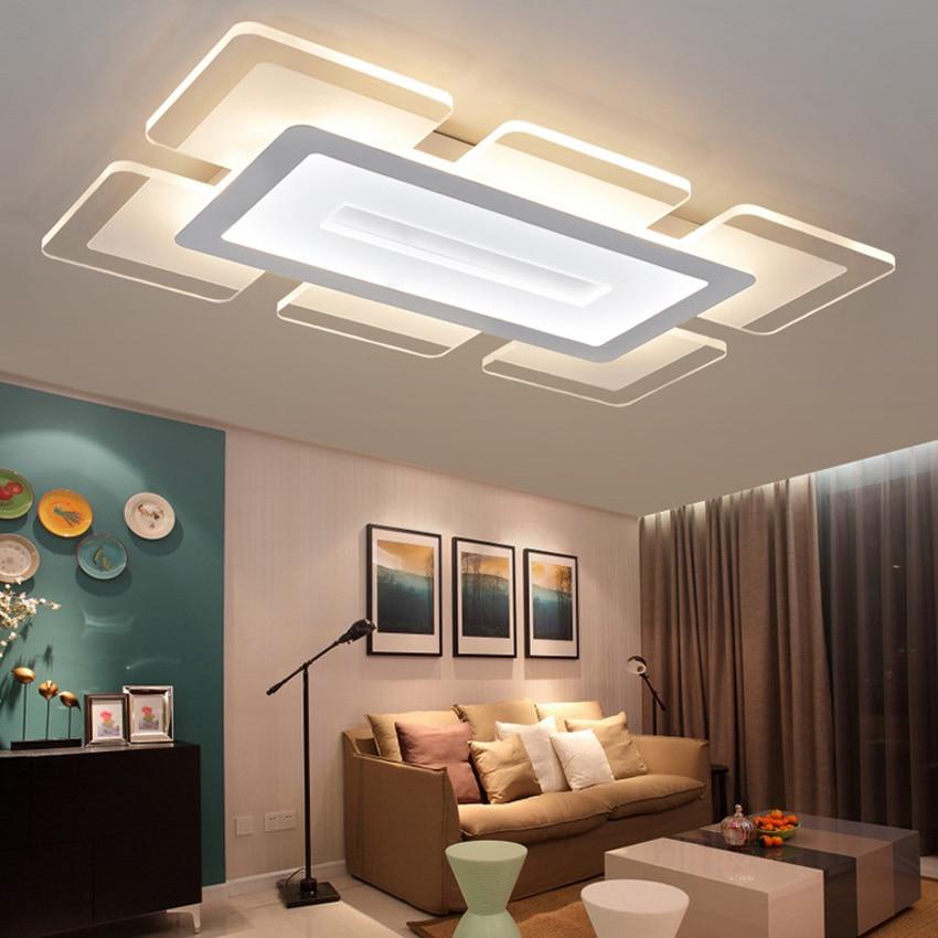 Overhead Lighting For Living Room: Ultrathin Acrylic Modern Ceiling Lights For Living Room