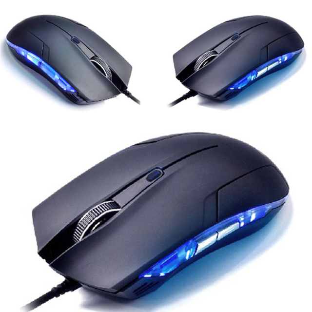 Hot Selling New Cobra Optical 1600 DPI USB Wired Gaming Game Mouse For Computer Games PC Laptop Black Free Shipping Suppion
