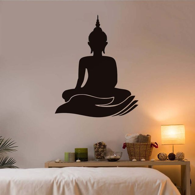 Online Shop Indian Design Buddha Wall Stickers Home Decor Lotus