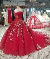 Красное Кружевное бальное платье вечерние платья 2018 Милая Vestido De Festa Longo вечернее платье Longue цветок платье вечернее платье