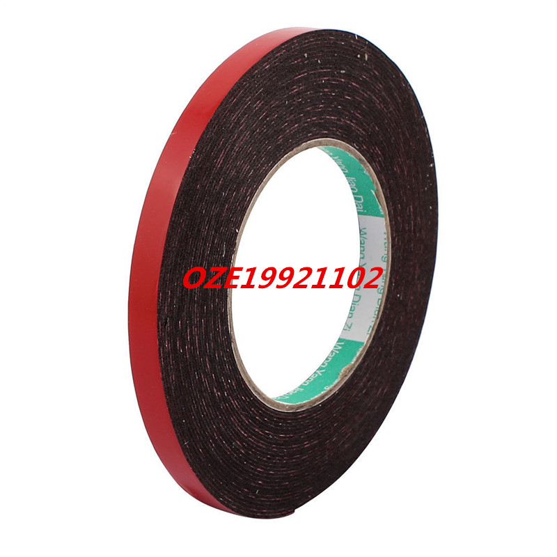 10mm x 1mm Double Sided Self Adhesive Shockproof Sponge Foam Tape 10M Length 2pcs 2 5x 1cm single sided self adhesive shockproof sponge foam tape 2m length