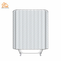 Memory Home Polyester Fabric Shower Curtain Blue Striped Mildew Mold Resistant Waterproof Bathroom Shower Curtains