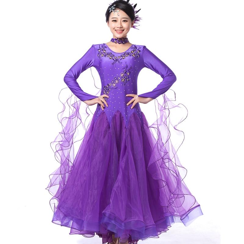2c68412768fa7 7 colors big wing blue ballroom dance dress for ballroom dancing waltz tango  Spanish flamenco dress standard ballroom dress