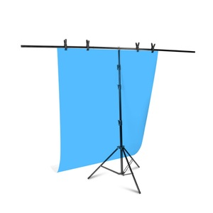 Image 5 - Aluminum Tripod with Cross Bar for Background Supporting T Shape Stand PVC Backdrops Holder 40cm 200cm Extendable Height Width
