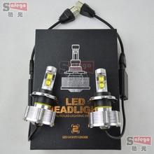 5 sets 60 Вт Eti чип светодиодные фары h4 автомобиля лампа высокой мощности привело фар автомобиля светодиодные фары преобразования комплект