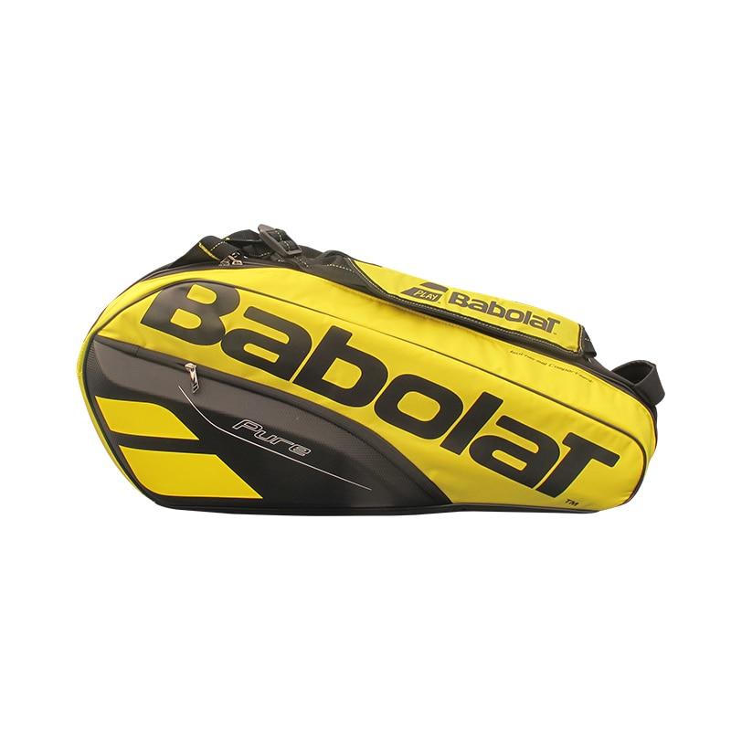 Original Babolat 6 Pack Tennis Bag Double Shoulder Backpack For 6 Rackets