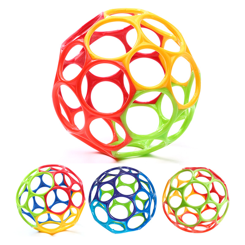 11cm Soft Colorful Ball Toys Touch Bite Caught Hand Oball Ball For Baby Learning Grasping Kids Gift Random Color #B