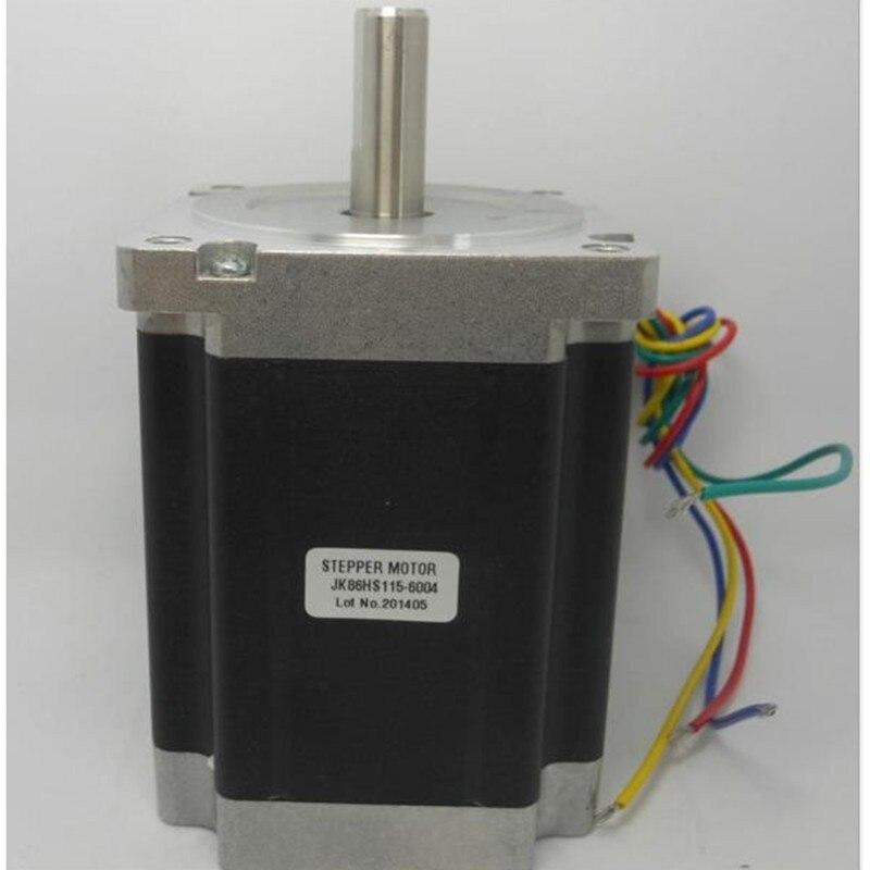 3 pièces Nema34 moteur pas à pas 86HS115-6004 86*115mm 8.7N.m 6A Nema 34 moteur 1240 oz-in pour CNC machine de gravure couple élevé