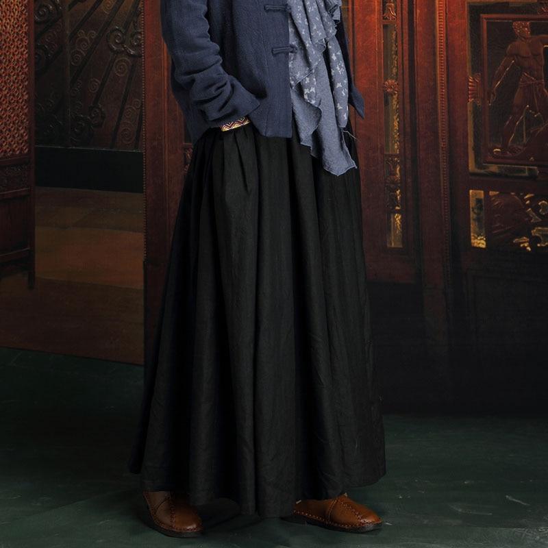 Xxxxxl Noir 2018 Femmes 5xl Femelle Automne Coton Plus Jupe Taille Casual maxi La National Plis Linge 6xl Longue Conceptions Jupes xnY8q4x