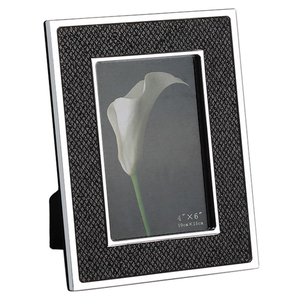 Yakri Silver Plated Metal Leather Photo Frames Creative Photo Frame MPF091