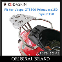 KODASKIN Scooter Rear Fender Rack Luggage Holder Saddlebag Supoort Cargo Shelf for Vespa GTS300 Sprint150 Primavera150 цена