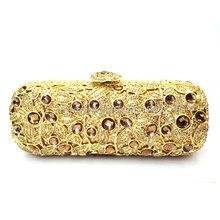 Sparkly Handmade Kristall Bankett Handtasche Strass Kristall Kupplung Abendtaschen Online Günstige gold grün Handtasche 88273