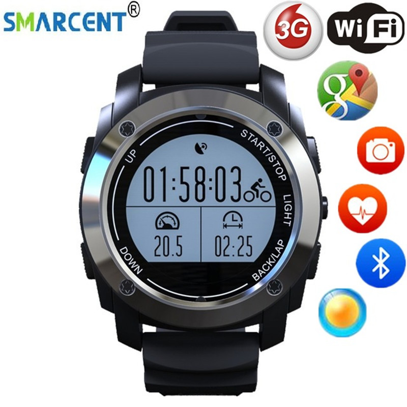 Montre intelligente SMARCENT S928 prise en charge g-sensor Notification GPS Mode Sport montre-bracelet téléphone intelligent pour Android ios