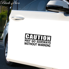 Caution May Go Sideways Without Warning Sticker Funny JDM Drift Car Window D030