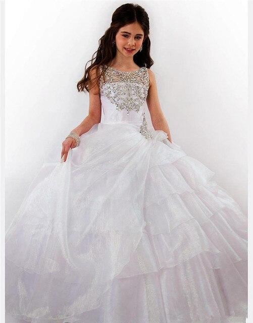 Vintage Kommunion Kleid Hochzeit Tochter Ballkleid Weiße Blume ...