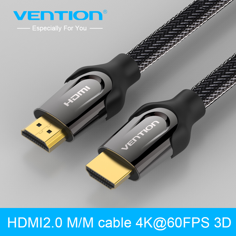 Vention HDMI Cable 1m/2m/3m/5m/8m/10m HDMI male to HDMI male Connector Adapter Cable 2.0V 1080p 3D for PC HDTV PS3 Projector