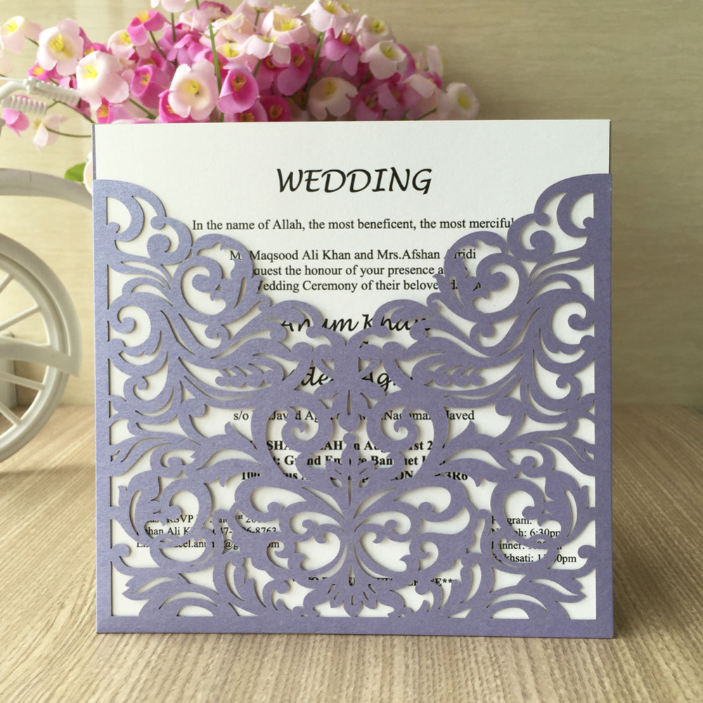 popular invitation card size-buy cheap invitation card size lots