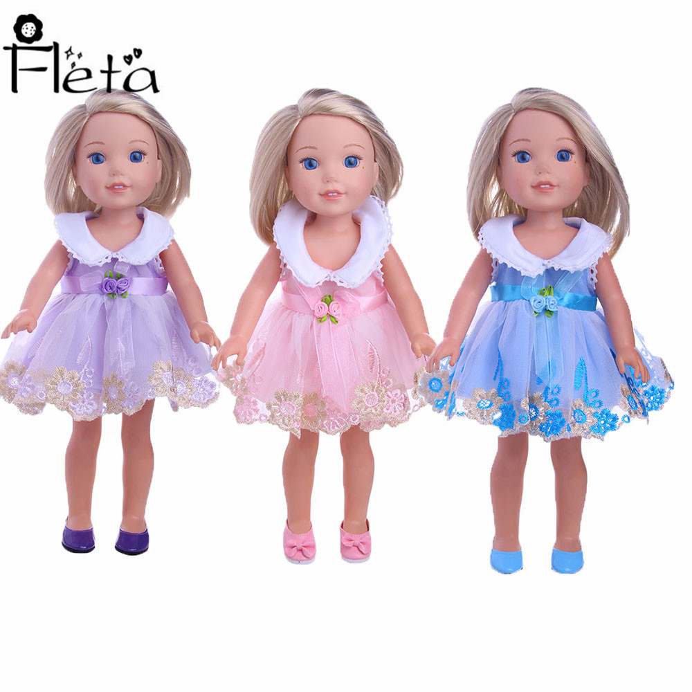 Doll 2018 New Design Party Princess Dress Handmade Skirt Sustainable For 14.5 Inch Dolls Christmas Birthday Gifts