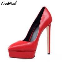 Size 35 42 Women S Platform High Heel Shoes Stiletto Brand Quality Heeled Pumps Ladies Fashion